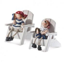 Μπομπονιερα Πειρατές σε καρέκλα