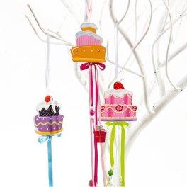 Μπομπονιερα Διακοσμητικά Κρεμαστά Cupcakes