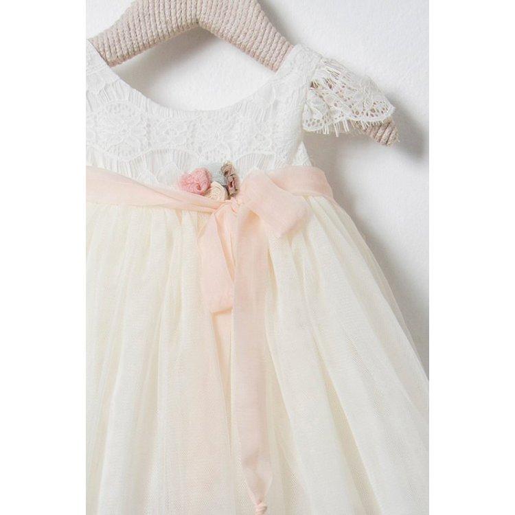 98e7633f839 Βαπτιστικό Φόρεμα Ballou 8550 | Βάπτιση κορίτσι , φορέματα για ...